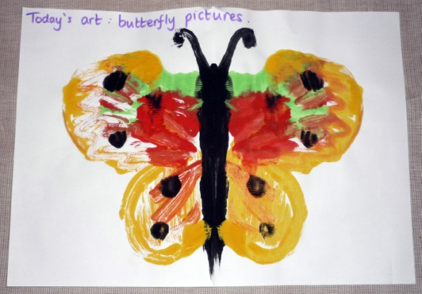 butterfly painting for babies and toldders