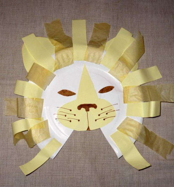 You are currently viewing Paper plate lion
