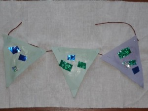 Paper Bunting Collage