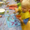 Read more about the article Vegetable printing and pasta collage