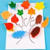 Autumn leaf sponge painting
