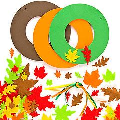 Autumn leaf wreath decoration