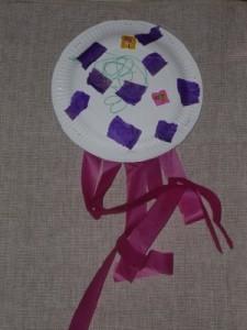 Paper plate shaker- junk model musical instrument