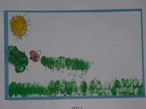 finger painting toddler art idea