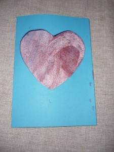 Easy Valentine card babies toddlers painting