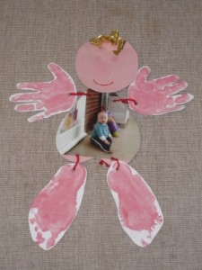hand and footprint man art idea for babies