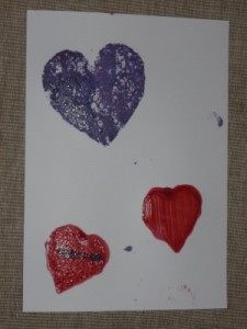 valentine heart stencils painting printing babies and toddler