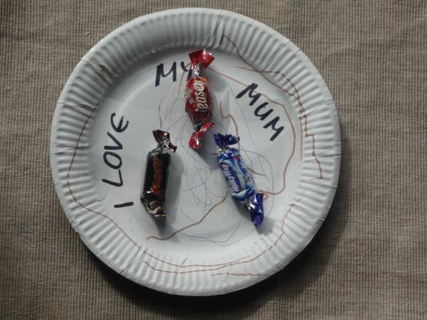 I love my mum plate