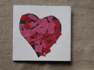 love to you bits easy Valentine card collage