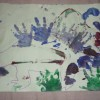 Read more about the article Handprint dinosaur painting