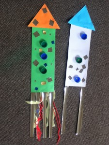 Space rocket collage- easy collage activity