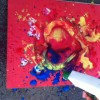 Spray painting- best done outside!