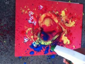 Spray painting- heart shape