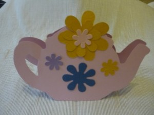 Teapot Mother's Day card. Easy collage