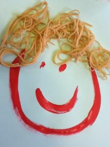 Spaghetti hair!