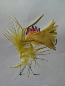 feather animal collage