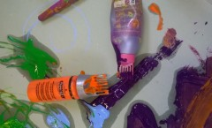 Use old hair dye bottle for painting!