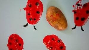 Potato print ladybird